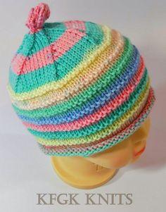 Handmade Knitted Baby Girl Hat KFGK Knits design 100% by KFGKKNITS