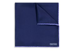 NAVY WITH LILAC EDGE SILK POCKET SQUARE   Shop Tom Ford Online Store