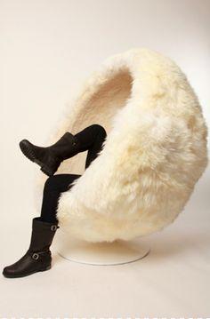 wool seat...