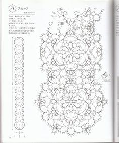 Tatting lace by Venus - issuu by Cyndy Cawley Crochet Motif, Crochet Lace, Crochet Stitches, Doilies Crochet, Tatting Patterns Free, Lace Patterns, Clothes Patterns, Dress Patterns, Needle Tatting