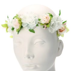 Kids Pink and White Floral Hair Garland
