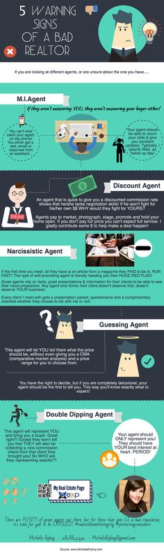 Real Estate Marketing Infograph Branded - 5 Warning Signs #realEstate #realEstateMarketing #realtor #realtorLife #ad
