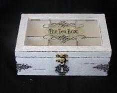 Victorian Style Tea Box by TheTimewornEmporium on Etsy
