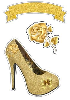 Hibiscus Clip Art, Carla Santos, Photo Frames For Kids, Pink Gold Birthday, Princess Cake Toppers, Shoe Template, Silhouette Cake, Buy Stickers, Creative Cake Decorating