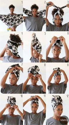 Edgy Turban hairstyle ideas Natural Hair Care Tips, Natural Hair Styles, Messed Up Hair, Curly Hair Styles, Hair Wrap Scarf, Head Scarf Tying, Head Scarf Styles, Messy Hairstyles, Hairstyle Ideas