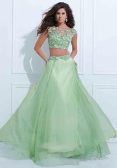 83e526a9819 2 piece green dresses for prom - Google Search Olive Green Formal Dress