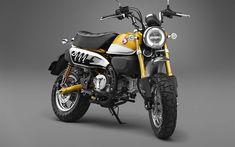 Descargar fondos de pantalla Honda Monkey 125, 4k, 2017 motos, moto gp, superbikes, Honda