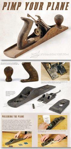 Restoring Hand Planes - Hand Tools Tips and Techniques  | WoodArchivist.com