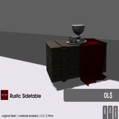 22769 ~ [bauwerk] Rustic sidetable