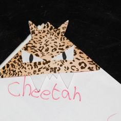 Image Result For Cheetah Bookmark Diy OR Origami