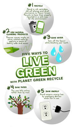 Five Ways to Live Green: surprising how many people don't do these