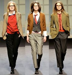 "Paul Smith's Fall/Winter 2011/12 collection. I really love the tailored men's clothing for a woman.""I liked [the collection] because he made the girls look like girls do – like slightly disheveled, very cool school girls..."" Alexandra Shulman."