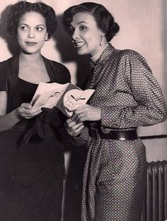 Hilda Simms and Lena Horne in the late 1940s. It drives me crazy that I have not been able to find a legitimate source/photographer behind this photo. It's one thing to find it on a random website (like I did last year) but it's another thing to share it and properly credit it for a wider audience. Sigh...