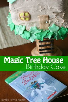 Do we have any Magic Tree House fans out there? Check out this #Magic #Tree #House Birthday Cake via FamilyFreshMeals.com