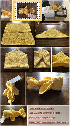 Toilet decoration - Washcloth - Ideas of Washcloth Creative Crafts, Diy And Crafts, Towel Origami, Toilet Decoration, Towel Animals, How To Fold Towels, Toddler Boy Gifts, Towel Cakes, Bunny Crafts