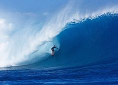 Cloudbreak Wave off Tavarua island, Fiji