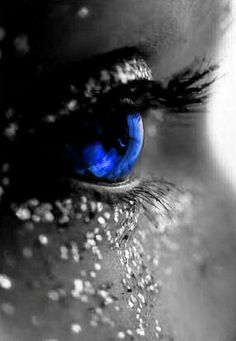 eye, as deep as the ocean is blue..