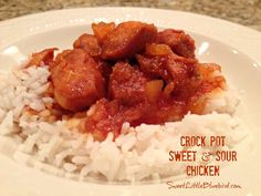 CROCK POT SWEET and SOUR CHICKEN - Only Four Ingredients | SweetLittleBluebird.com