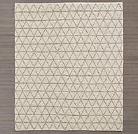 Triango Wool Rug - Ivory/Grey