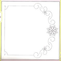 RB Embroidery Cards, Embroidery Patterns, Hand Embroidery, Cross Stitch Patterns, Stitching On Paper, Hand Stitching, Sewing Cards, Paper Frames, Card Patterns