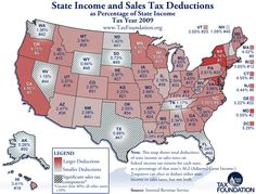 State income and sales tax deductions (as a % of state income)