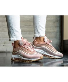 0be2de6167 Nike Air Max 97 Fashion Rose Gold Trainers Cheap Sale Rose Gold Trainers,  Baskets Nike
