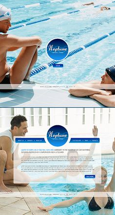 Neptune Swim Website Templates by Di