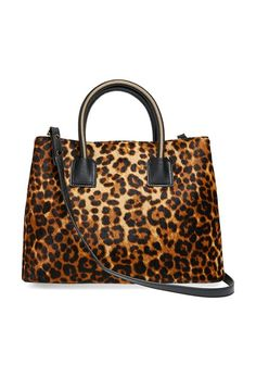Milly 'Logan' Leopard Print Calf Hair & Leather Tote - was $495.0, now $371.25 (25% Off) @ Nordstrom