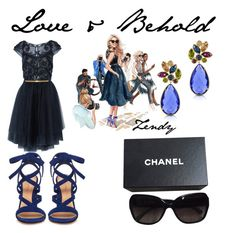 """Love & Behold"" by zendyro on Polyvore featuring Notte by Marchesa, Forzieri, Chanel and Gianvito Rossi"