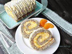 Raspberrybrunette: Maková roláda s mandarínkovým krémom Cake Recipes, French Toast, Cheesecake, Muffin, Cooking Recipes, Breakfast, Sweet, Desserts, Cake Rolls