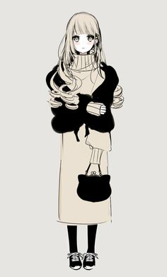 Kawaii Anime Girl, Anime Art Girl, Manga Girl, Manga Anime, Character Design Animation, Character Art, Anime Girl Dress, Anime Artwork, Anime Outfits