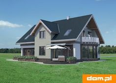 DOM.PL™ - Projekt domu AN LAZURYT CE - DOM AO10-37 - gotowy koszt budowy Shed, Outdoor Structures, House Styles, Malm, Home Fashion, Teak, Home Decor, Houses, Lean To Shed