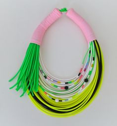 Blandine Bardeau - Necklace     (Made solely from plastic tubing)