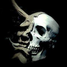 Life even means after Japanese Mask, Japanese Tattoo Art, Dark Fantasy Art, Dark Art, Hanya Tattoo, Skull Reference, Oni Mask, Totenkopf Tattoos, Asian Tattoos