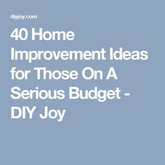 Cheap DIY projects and home improvement ideas that let you remodel on a budget. From kitchen to bathroom to the entire house, update with these tutorials. Home Improvement Tv Show, Home Improvement Loans, Home Improvement Projects, Cheap Diy Home Decor, Home Decor Hacks, Decor Ideas, Decorating Ideas, Kitchen On A Budget, Diy On A Budget