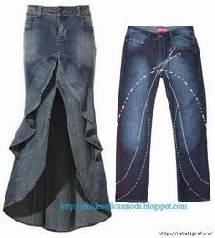 I'd do this with pants that are not jeans since jean skirts scream religious homeschooler in my neck of the woods. #AwesomeIdeas