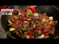 Easy way to make the tastiest Pepper Steak recipe for your family I cooking stir fry - YouTube Steak Au Poivre, Cooking Stir Fry, Steak Recipes, Cooking Recipes, Trini Food, How To Cook Beef, Pepper Steak, Beef Dishes, Easy Dinner Recipes