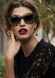 Bianca Balti, Dolce & Gabbana sunglasses ad campaign.