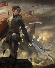 Female Human Fighter or Paladin- Sword Heavy Armor Inspiration Drawing, Fantasy Inspiration, Character Inspiration, Fantasy Armor, Medieval Fantasy, High Fantasy, Fantasy Battle, Character Concept, Character Art