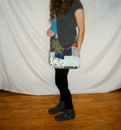Blue Patchwork boho bag hippie purse by loudmoon on Etsy, $30.00