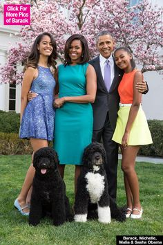 Malia, Sasha & Michelle Obama Stun In First Family EasterPortrait