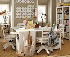Would be an awesome school set up if I had the space for it! Maybe, maybe one day my basement can be the school room too!