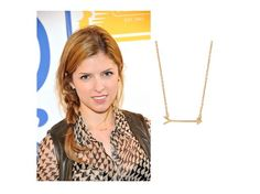 """""""Pitch Perfect"""" actress Anna Kendrick spotted out in NYC wearing On the Mark Necklace  www.stelladot.com/bethbarone"""