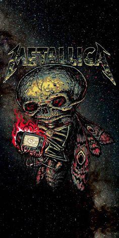 Metallica Tattoo, Metallica Art, Rock Bands, Metal Bands, Woodstock, Hard Rock, Emoji Wallpaper Iphone, Heavy Metal Art, Rock Poster