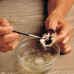 Candied flowers add an elegant touch to cakes or fancy desserts. Here's how to make them.