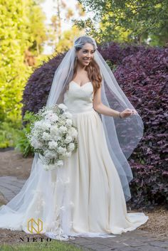 Venue: The Hall and Gardens at Landmark Photographer: Chris Nieto Hair: Wedding Hair by Liz Makeup: Half Up Wedding Hair, Wedding Hairstyles Half Up Half Down, Curly Wedding Hair, Romantic Wedding Hair, Dj Video, Dress Rental, Bride Makeup, Bridesmaid Dresses, Wedding Dresses