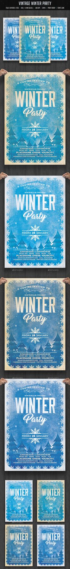 Back to School Party Flyer Template V3 School parties, Party - winter flyer template