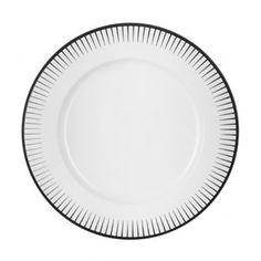 Assiette plate porcelaine noire 28 cm Ginseng - La Table d'Arc