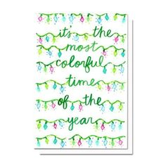 Colorful Time of the Year Card | Evelyn Henson