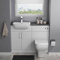 Modern Small Bathrooms, Tiny Bathrooms, Ensuite Bathrooms, Downstairs Bathroom, Small Bathroom Ideas, Small Narrow Bathroom, Small Bathroom Layout, Bathroom Plans, Small Toilet
